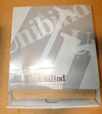 (50) UniBind 25200LS18BO SteelCrystal Frosted Cover 18mm Bordo 130-160 Pages New