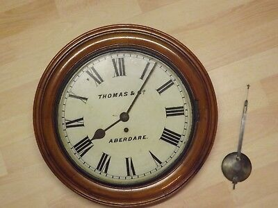 Welsh Antique Chapel Fusee Wall Clock Aberdare 1905 Large / Big.