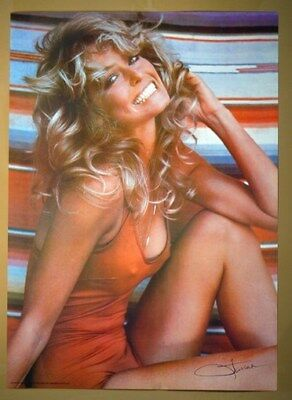 FARRAH FAWCETT POSTER 1976 Original Rolled in Sleeve