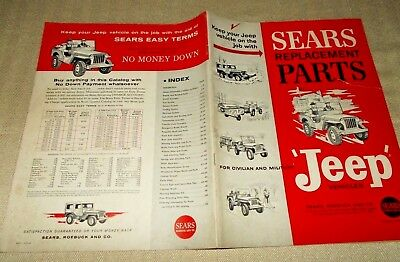 1963 Sears Replacement Parts for Jeep Vehicles catalog