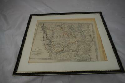 Framed picture of map of India