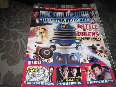 Doctor Who Monster Invasion Magazine Vgc Issue 1  Daleks Impossible Astronaut