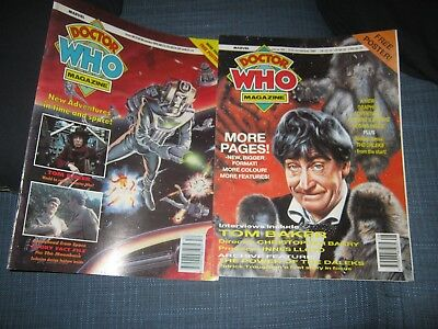 Doctor Who Magazines X 2 180 181  Daleks Cybermen Autons Tom Baker Unit Vgc
