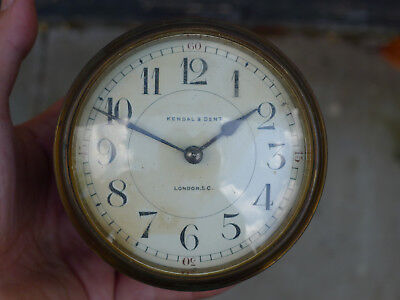 CLOCK MOVEMENT mantel/bracket 8day ex.platform KENDAL & DENT convex enamel dial