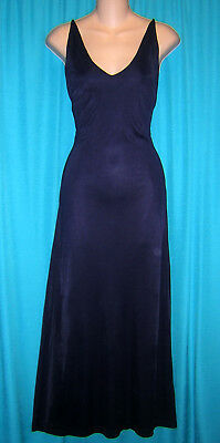 *fantastic Long Black Fluid Knit Vintage 80's Victoria's Secret Nightgown**med**