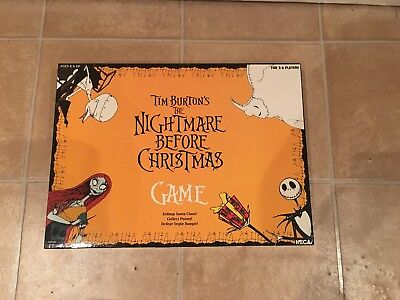 The Nightmare Before Christmas Board Game Vintage Great Condition Neca