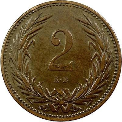 Hungary - 2 Filler - 1901 - Bronze
