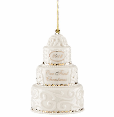 Lenox 2018 Our 1st Christmas Together Cake Ornament