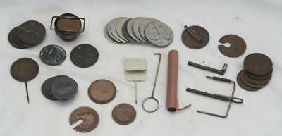 Collection of Antique Vintage Magic Magicians Slight of Hand Coin Tricks