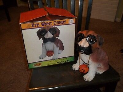 Cracker Barrel Saint Bernard Dog Statute Indoor/outdoor Eye Want Candy
