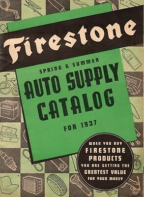 1937 FIRESTONE Spring Summer Catalog Auto Supplies Gas Station Dealer EXCELLENT