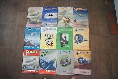 Job Lot 12 The AEROPLANE Aeronautical Engineering Magazines 1946 Photographs