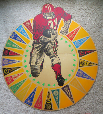 "c 1960 NCAA FOOTBALL CARDBOARD DISPLAY PIECE-VERY COLORFUL 32"" BY 28"""
