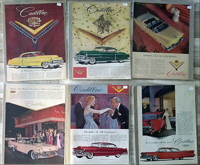 Lot of over 100 large Cadillac Car Ads  1950s 1960s 1970s