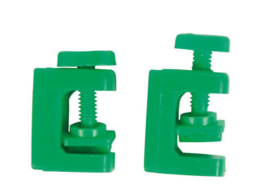 Trixie Set of 2 Tube Clamps Green Airline Air Regulator Clamp x 2