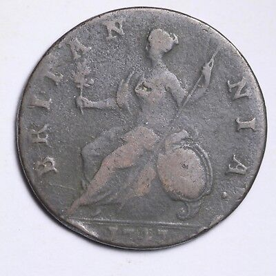 1747 Great Britain Farthing Nice World Coin Free Shipping