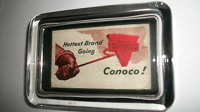 Conoco Oil Gas Station Branding Iron Logo White Advertising Sign  Paperweight