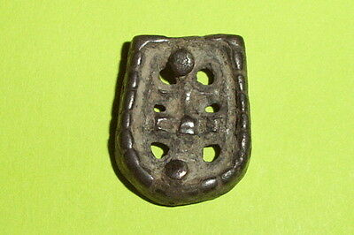 VIKING STRAP END Authentic Ancient openwork artifact Jewelry tool antiquity VF
