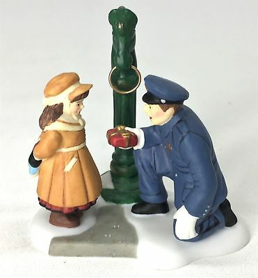 Dept 56 Christmas In City- To Protect And Serve 58902 Policeman Child Figure New