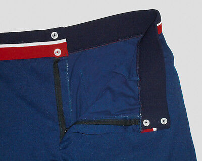 """VINTAGE 70s RUSSELL Athletic Basketball Gym Shorts NAVY BLUE 5"""" Mens USA 2XL"""