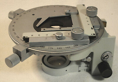 LOMO Circular Stage for Polarizing Microscopes,  X-Y Sample and Condenser Holder