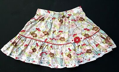 Janie & and Jack Girls 4t Skirt Cherry Blossoms Floral Summer Fall NG1-47