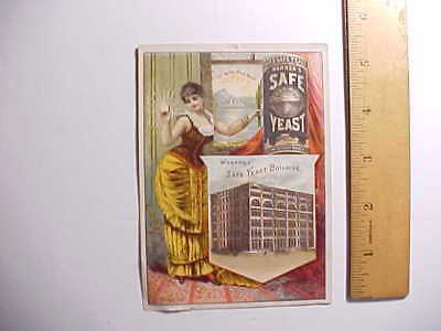 1880s WARNERS SAFE YEAST (QUACK MEDICAL CURE) VICTORIAN TRADE CARD VG+