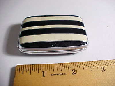 1930s ART DECO STREAMLINED ENAMELED TRINKET JEWELRY PILL BOX VG+