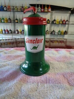 SINCLAIR Gasoline Station Gas Motor Pump OIL CAN Motor Oiler Spout DINO Dinosaur