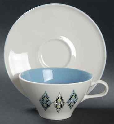 Iroquois Ben Seibel BLUE DIAMONDS Cup & Saucer 267831