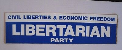LIbertarian Party Vintage Bumper Sticker