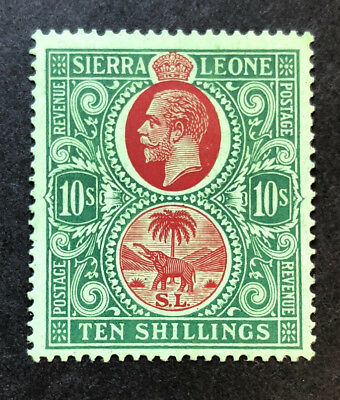 SIERRA LEONE 137 Very Nice Mint Very Light Hinged 10/- Issue VF GEORGE V OD h159
