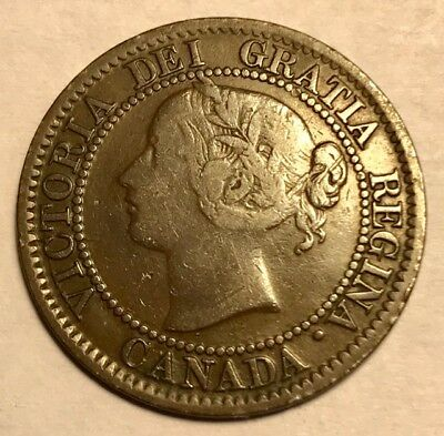 CANADA - Queen Victoria - One Cent - 1859 - Very Fine - FREE SHIPPING!