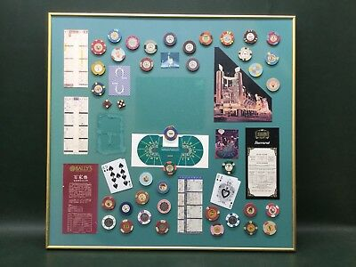 39 Vintage Casino  Chips Poker Baccarat on Board ~ Various Casinos World Wide