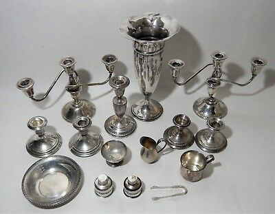 2 Part Scrap Lot  233 Grams Pure Sterling + 3455 Grams Weighted Sterling