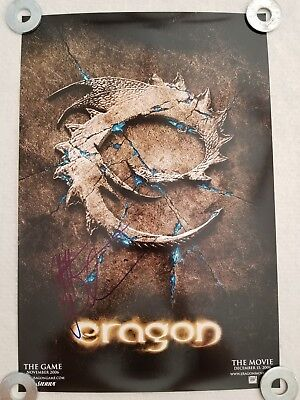 ERAGON Movie Poster Signed by Creater Christopher Paolini SDCC Comic-Con 2006