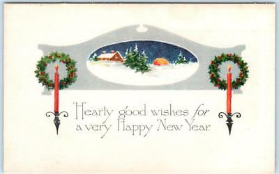 Arts and Crafts   HAPPY NEW YEAR   Gibson Art  Postcard