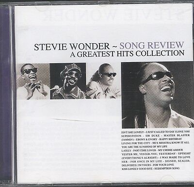 Stevie Wonder - Stevie Wonder - Song Review: A Greatest Hits Collection CD VGC