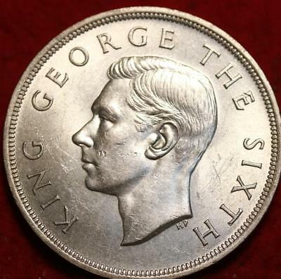 1949 New Zealand Crown Silver Foreign Coin