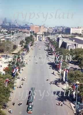 1955 Amateur Photo Slide CANADIAN NATIONAL EXHIBITION Shell Tower View TORONTO