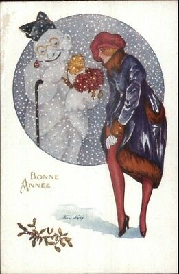 Xavier Sager Glamour New Year - Beautiful Woman & Snowman Fantasy PC #5