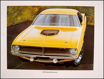 Dodge Plymouth Mopar Muscle Car Print Lithograph Set #4 1966 1967 1968 1969 1970
