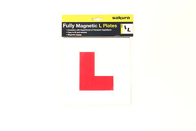 Sakura LP100 Fully Magnetic L Plates For Learner Drivers Easy To Fit And Remove