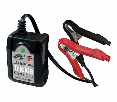 Maypole MP7402 Smart Battery 12V 0.5A Automatic Trickle Charger For Up To 100Ah