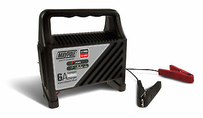 Maypole MP7406 6A 12V Automatic LED Battery Charger Car Vehicle Up To 1.2L