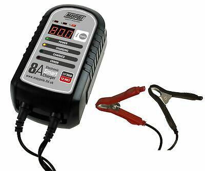 Maypole MP7428 8 Amp 12V Electronic Smart Trickle Car Bike Battery Charger Fast
