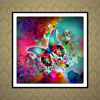 DIY 5D Diamond Painting Colorful Butterfly Embroidery Cross Stitch Home Decor