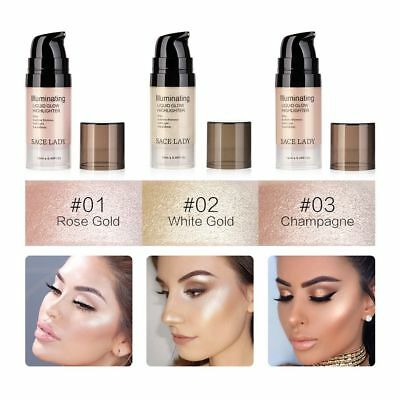 SACE LADY Face Highlighter Cream Liquid Brighten Shimmer Glow Kit Shine Cosmetic