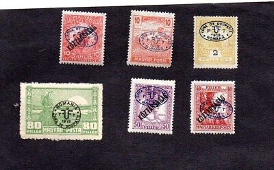 HUNGARY.1919/20.ROMANIAN OCCUPATION OF DEBRECEN.6x DIFF'T STAMPS.MINT HINGED.