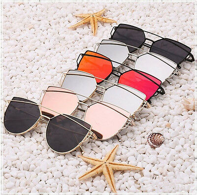 Fashion Unisex Men Women Mirror Sunglasses Metal Frame Driving Vintage Glass New
